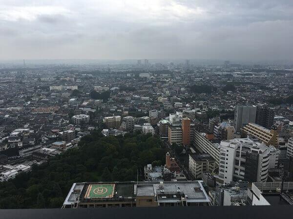 iPhoneで高層階の景色を撮影