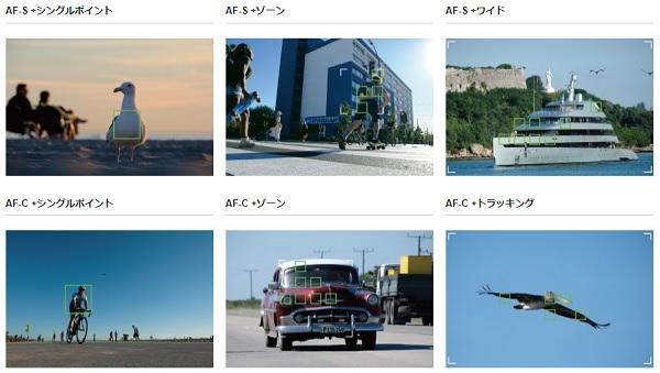 FUJIFILM X-T20には6種類のオートフォーカスがある