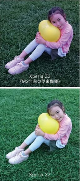 XperiaZ3に比べてXZは肉眼に近い表現が出来る